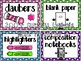 EDITABLE Polka Dot Mania Classroom Decor Pack
