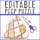 EDITABLE Poop Puzzle | Create your own activities on ANY topic!