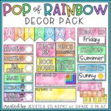 EDITABLE Pop of Rainbow Decor Pack