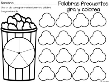 Set completo de palabras de español EDITABLE