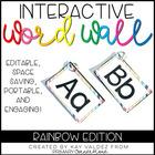 EDITABLE Interactive and Portable Word Wall Books (Rainbow)