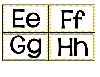 Portable Word Wall-Interactive Word Wall-EDITABLE (Yellow Stripes)