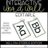 Portable Word Wall-Interactive Word Wall-EDITABLE (Yellow