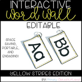 EDITABLE Interactive and Portable Word Wall Books (Yellow