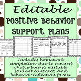EDITABLE Positive Behavior Support Plan Templates