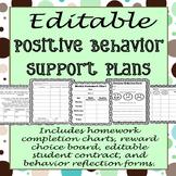 EDITABLE Positive Behavior Support Plan Templates