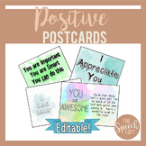 EDITABLE | Positive Postcards | Classroom Management | Pos