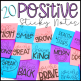 EDITABLE Positive Sticky-Notes Printable Templates for Students