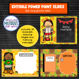EDITABLE Power Point Slides for Fall Learning Targets