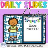 EDITABLE Power Point Slides for Spring Learning Targets