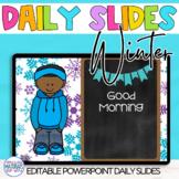 EDITABLE Power Point Slides for Winter Learning Targets