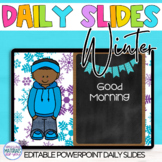 EDITABLE Power Point Slides for Winter Learning Targets