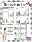 EDITABLE PowerPoint Llama & Cactus Newsletter & Tag Templates