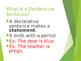 EDITABLE PowerPoint on Types of Sentences