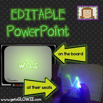 EDITABLE PowerPoints for Glowie Mats