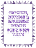EDITABLE Pre and Post Test Creative, Notable and Inventive