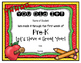 EDITABLE: Preschool First Week Certificate