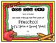EDITABLE: Preschool First Week Certificate