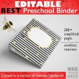 EDITABLE Preschool Teacher Binder and Planner
