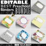 EDITABLE Preschool Teacher Binder and Planner BEST BUNDLE