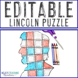 EDITABLE President Lincoln Puzzle - Create your own activity on ANY topic!
