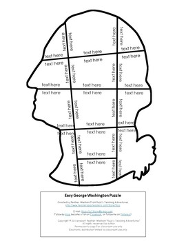 EDITABLE President Washington Puzzle - Create your own activity for ANY topic!
