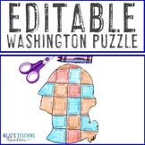 EDITABLE President Washington Puzzle - Create your own Constitution Day Activity