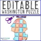 EDITABLE President Washington Puzzle - Create your own Con