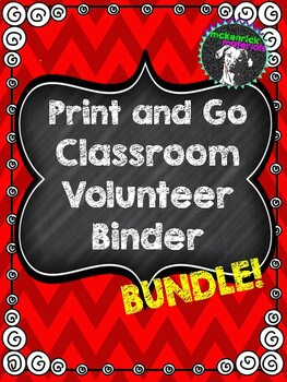 EDITABLE Print-and-Go Classroom Volunteer Binder: Everything You Need!