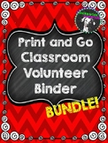 EDITABLE Print-and-Go Classroom Volunteer Binder: Everythi