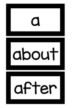 EDITABLE Printer Friendly Word Wall B&W