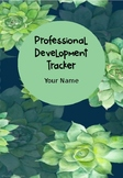 EDITABLE Professional Development Tracker and Meeting Record