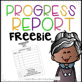 EDITABLE Progress Report FREEBIE