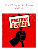 EDITABLE Protest Poetry and Social Justice Mini Unit