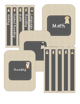 EDITABLE Puppy Binder Covers and Spines