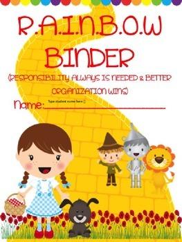 *EDITABLE* R.A.I.N.B.O.W Binder Cover