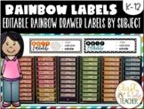 EDITABLE RAINBOW DRAWER LABELS