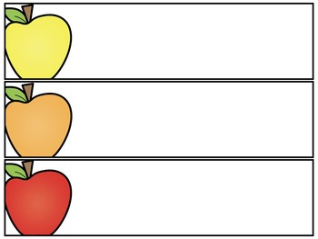 EDITABLE Rainbow Apple Nametags and Labels