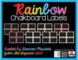 EDITABLE Rainbow Chalkboard Labels
