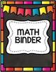 EDITABLE Rainbow Chalkboard Themed Binder Covers! FREEBIE!