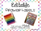 EDITABLE Rainbow Drawer Labels