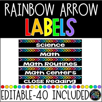 EDITABLE Rainbow Labels {for Target Dollar Spot pockets}