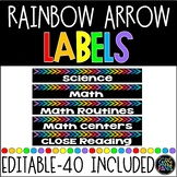 Target Adhesive Pocket Labels | Rectangle Labels | Rainbow Labels | Editable