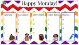 EDITABLE Rainbow Morning Stations Slides (Happy Music Embedded)