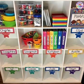 EDITABLE Rainbow Name Plates for Student Name Tags
