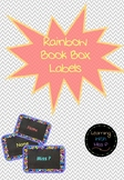 EDITABLE Rainbow Polka Dot Book Box Labels