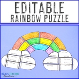 EDITABLE Rainbow Puzzles | Make Your Own FUN Spring Activities on ANY Topic!
