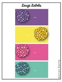{EDITABLE} Rainbow Teacher Toolbox Labels