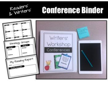 EDITABLE Readers and Writers Workshop Conference Binder