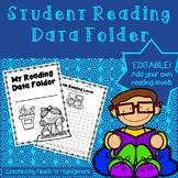 EDITABLE Reading Data Folder for Students